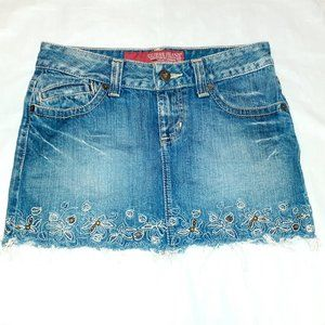 Guess Jeans Embellished Mini Skirt Size 24